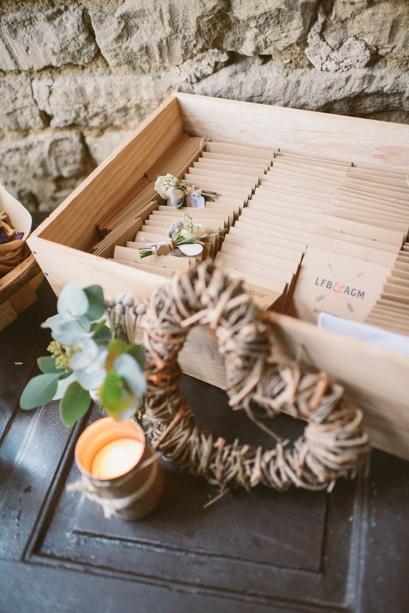 Wedding decorations for house  A rustic winter wedding at Cripps Barn with DIY home made decor and