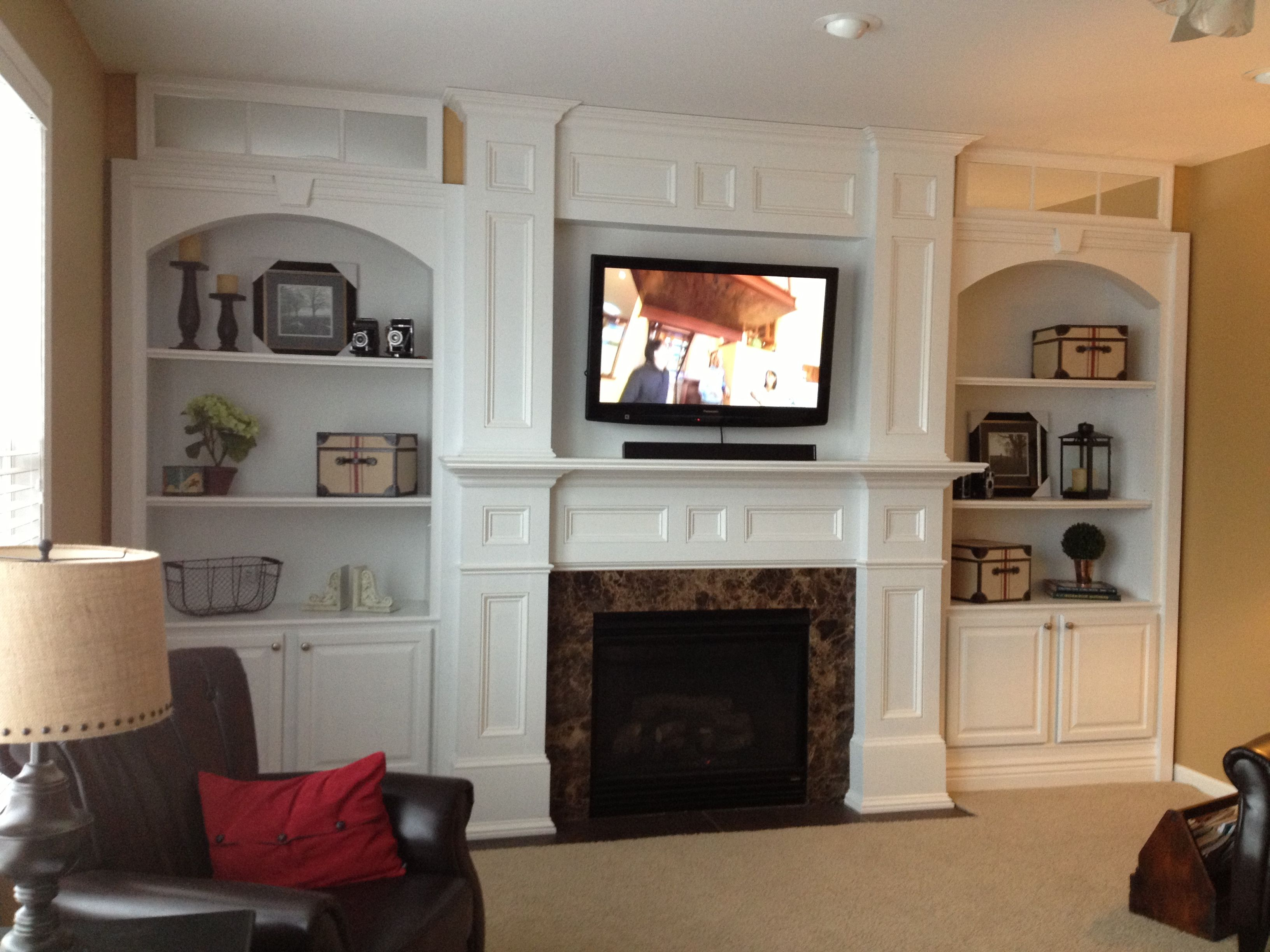 Fireplace remodel Fireplace ideas Pinterest House Living