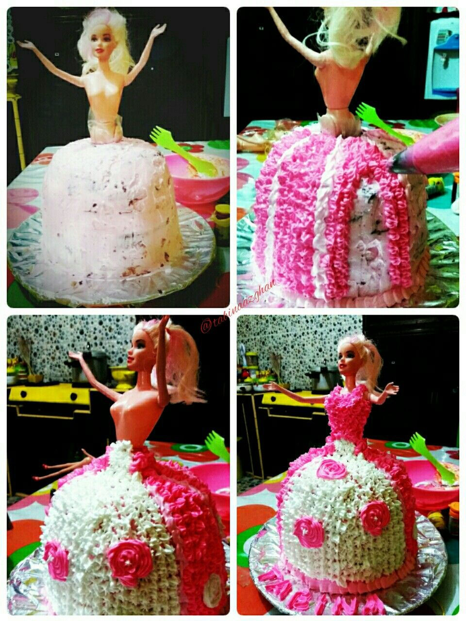 Pin cara menghias kue cake decorating cake on pinterest - Kue Ulang Tahun Barbie Birthday Cakebarbie