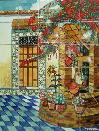 Mural Tiles For Kitchen Decor Mexican Tile  Tile Murals Kitchen Decor And Decorating