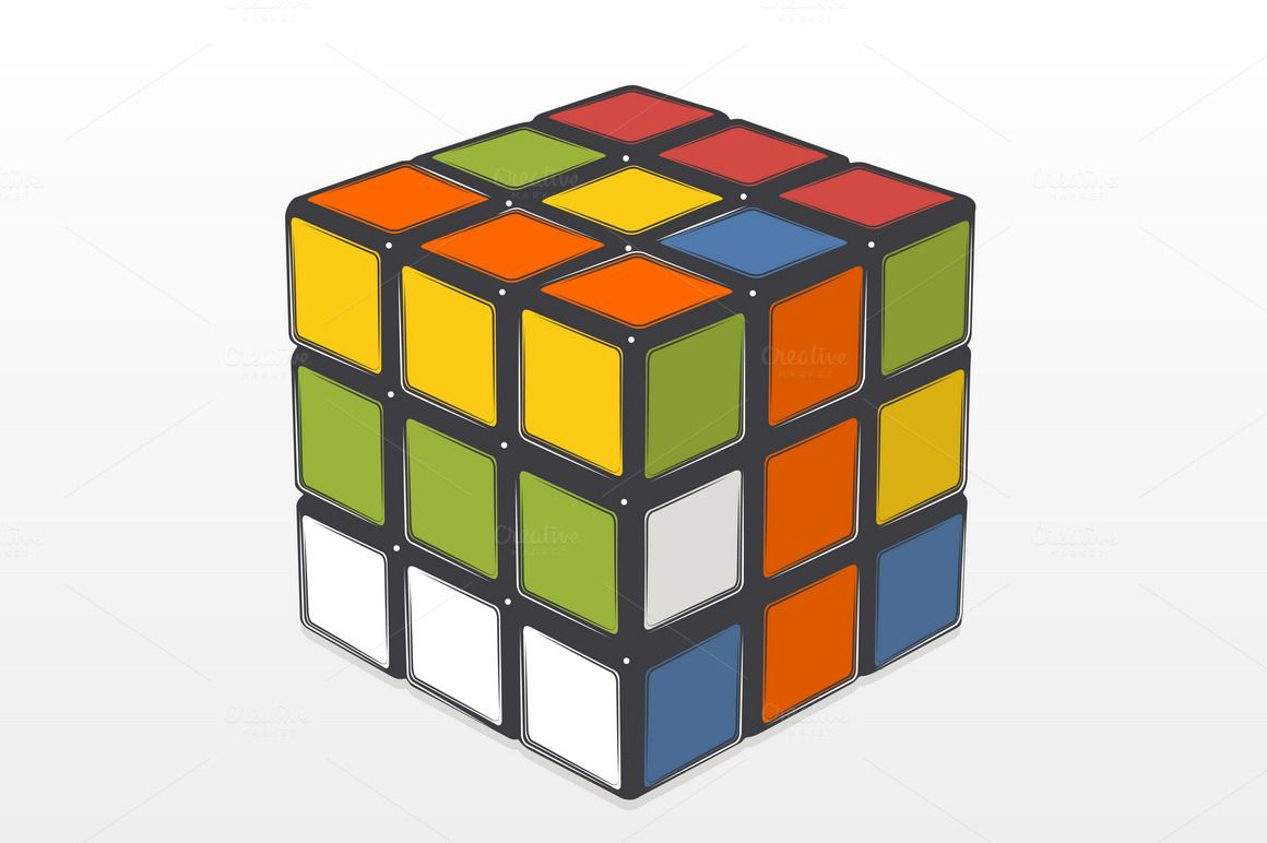 Rubik's Cube by Snitovets on @creativemarket