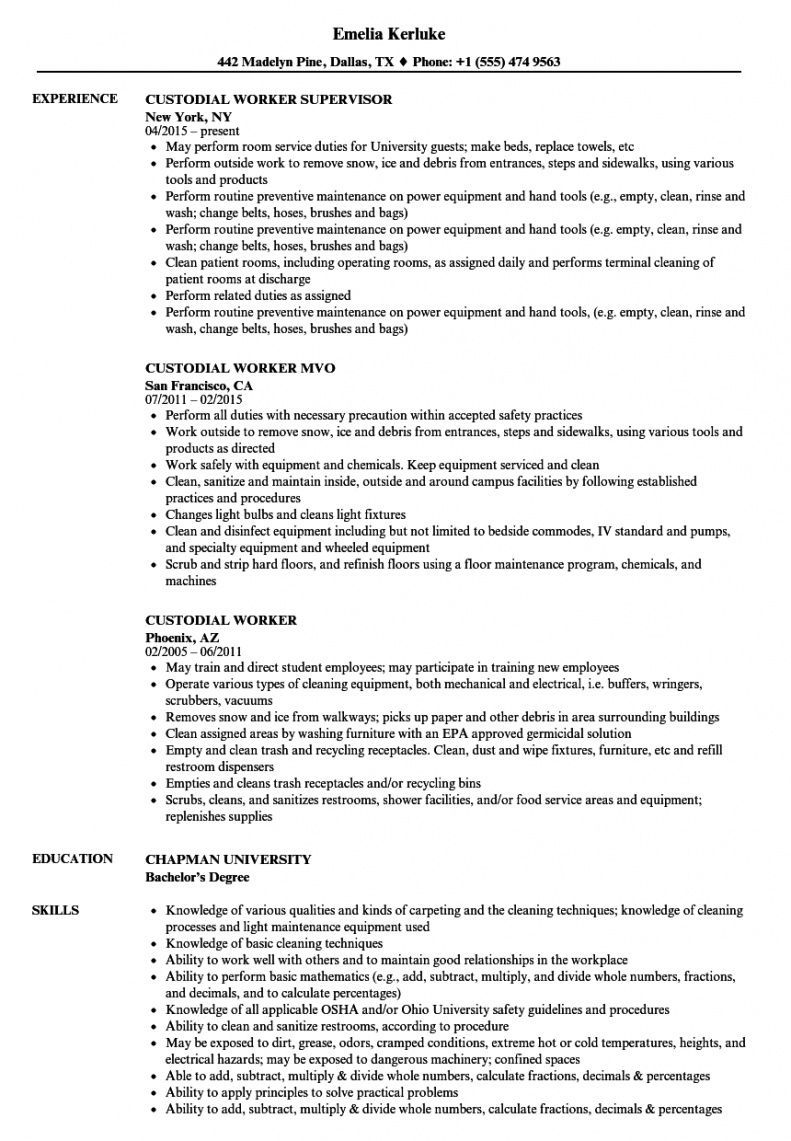 Get Our Sample Of Custodial Work Schedule Template In 2020 Project Manager Resume Good Resume Examples Resume Examples