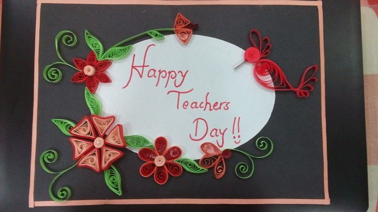 Teachers Day Quilling Card Teachers Day Card Happy Teachers Day