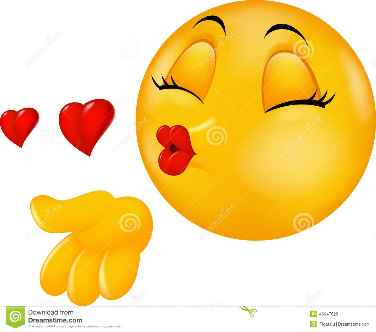 kiss emoticon royalty free stock image - image: 14654286 | kiss