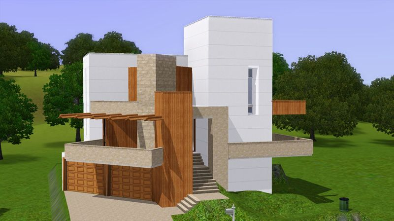 Image result for sims 3 modern house Designed for a Sim