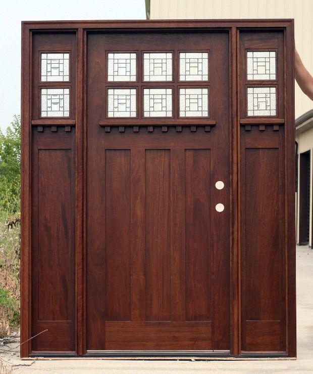 Details About Mahogany Exterior Door Arts And Crafts Ac