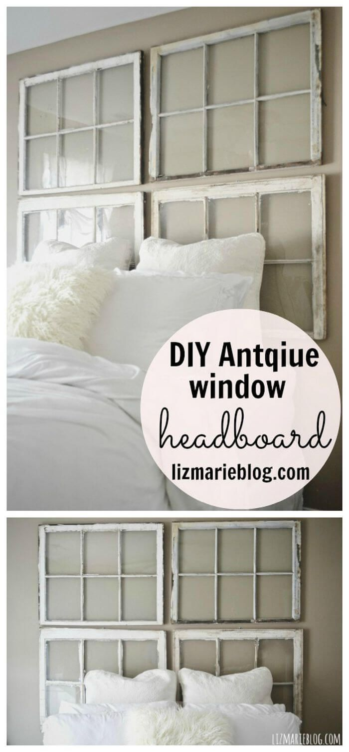 Window headboard ideas   superb diy headboard ideas for your chic bedroom  diy headboard