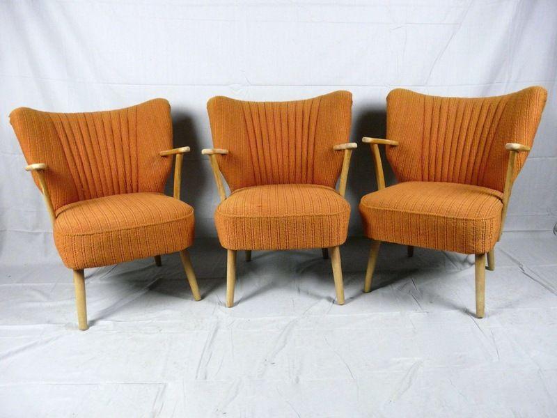 Orange 50er Cocktailsessel Rockabilly Sessel Stuhl Sessel Sitzgelegenheiten Cocktailsessel