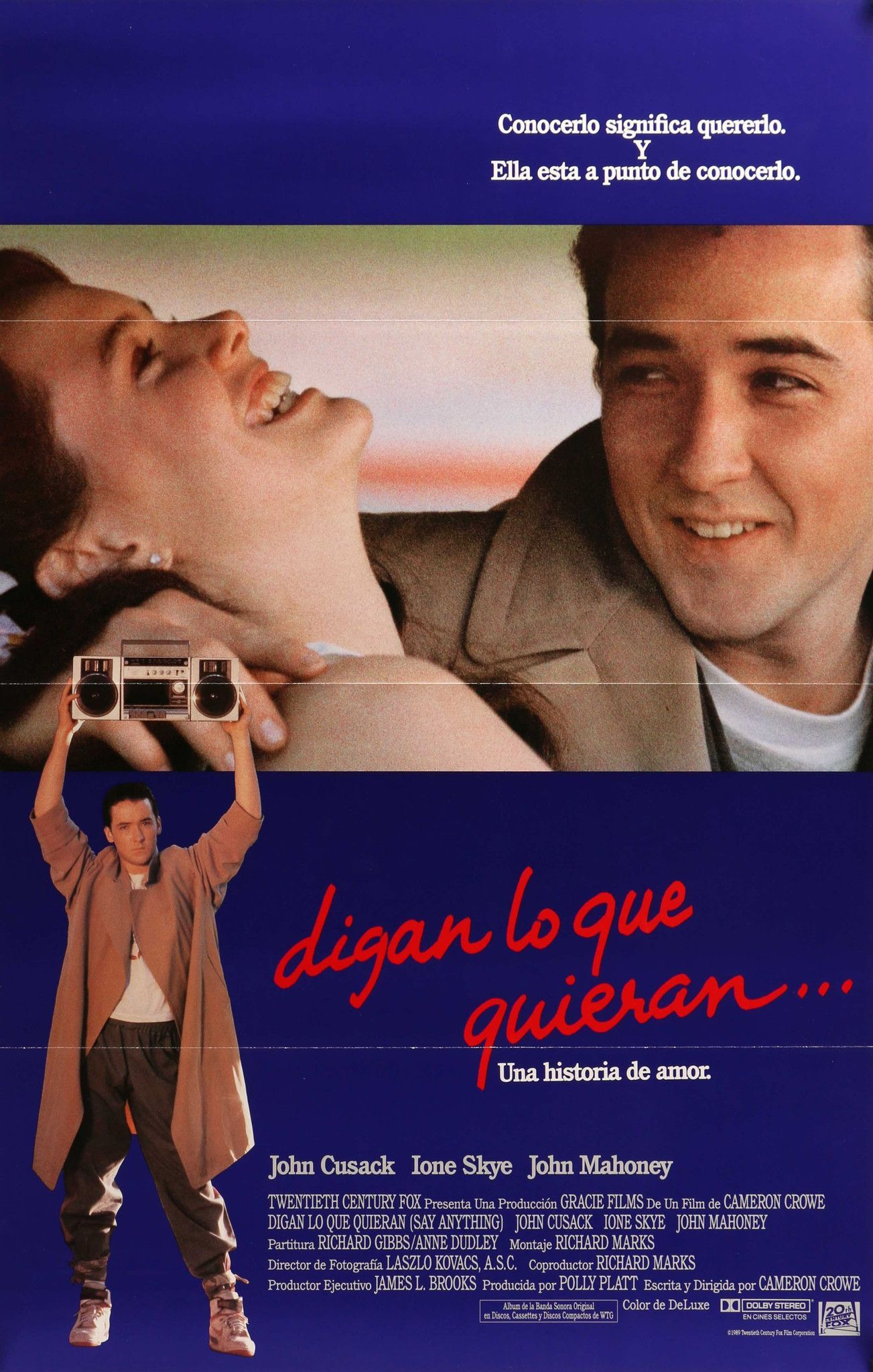 Say Anything 1989 John Cusack Movies Movie Posters 80s Movies