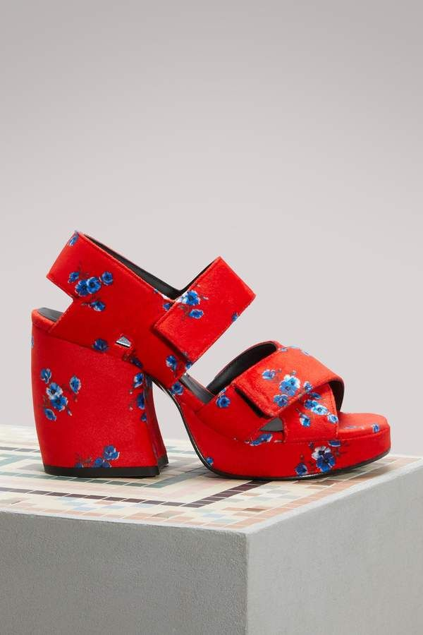 Kenzo Velvet sandals with heels Discount Nicekicks Big Discount Discount From China okmSWon1