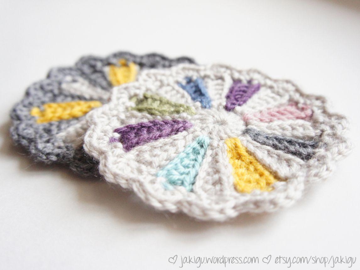 free crochet pattern: pinwheel coaster | Crochet patterns ...