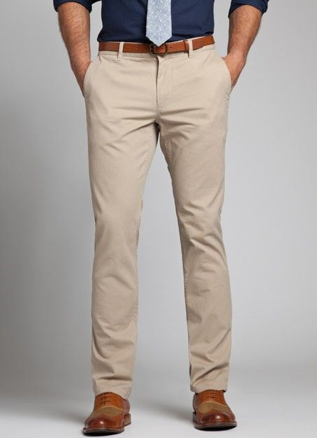 Basic Pair Of Khaki Colored Pants Business Casual Men Mens Outfits Mens Fashion Suits