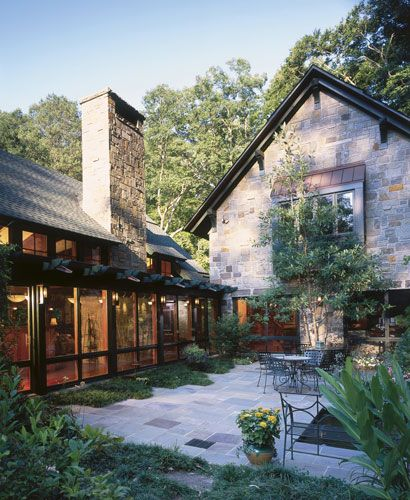 Pine Brook Boulder Mountain Residence Exterior: Patio . Mountain And Brook Home . Tea2 Architects