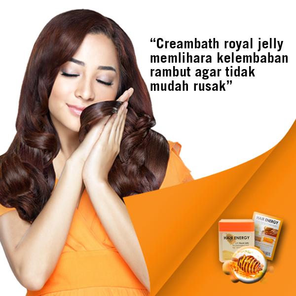Gunakan Makarizo Hair Energy creambath varian royal jelly