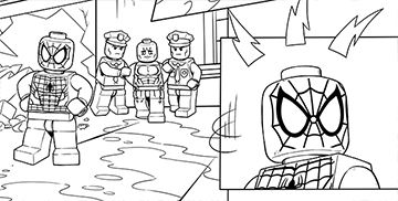 Lego Marvel Coloring Pages Coloring Pages Lego Coloring Pages