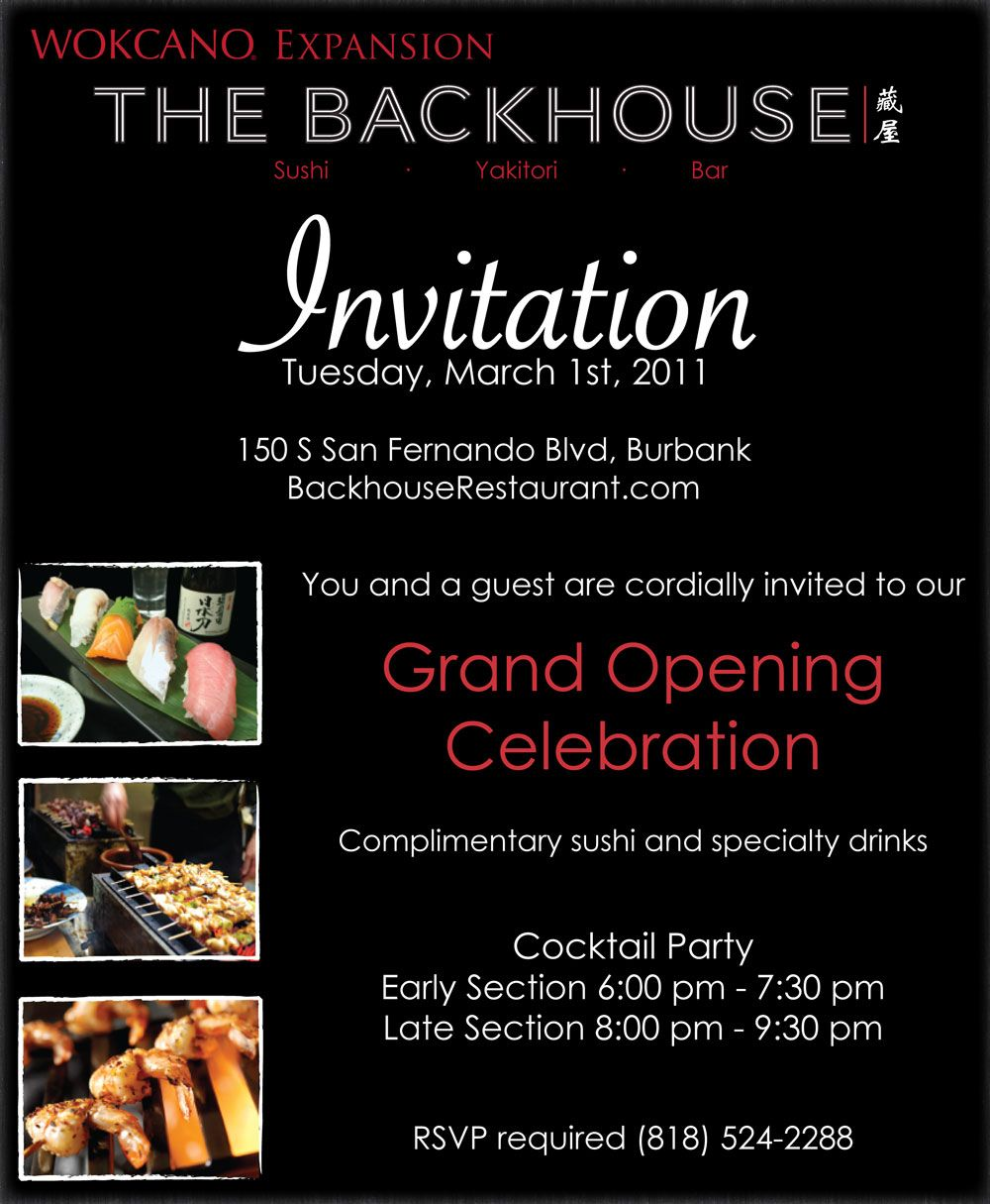 Invitation Grand Opening Cafe
