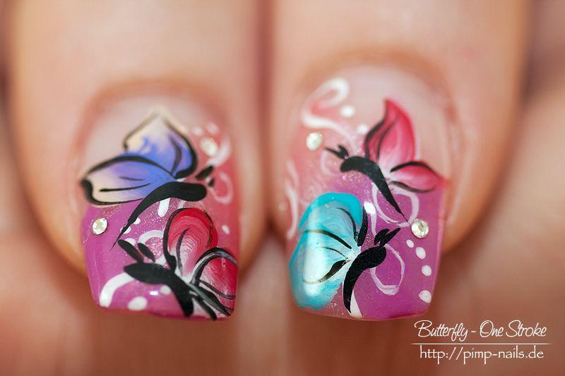 Nail Art Buterfly Gallery 2012 | nail art butterfly one stroke ...