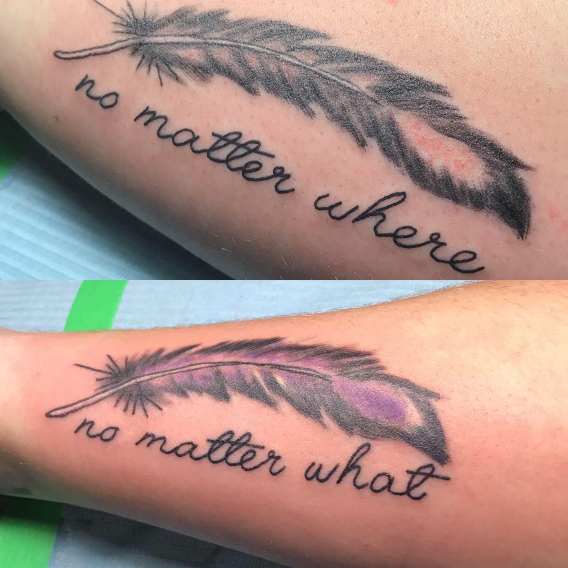 Cute No Matter Where No Matter What Best Friend Feather