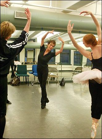 Georgina Parkinson rehearsing with Gillian Murphy and Ethan Stiefel. It was a huge loss when she passed away.