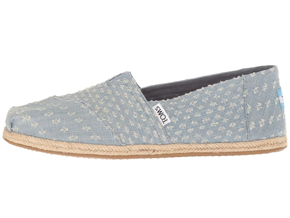 d1436b97de4 TOMS Seasonal Classics Women s Slip on Shoes Seaglass Torn Denim ...