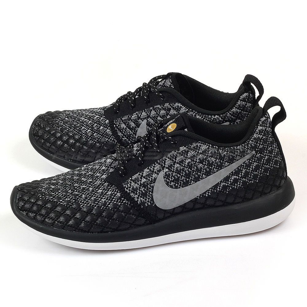huge discount ace61 d891c Nike Wmns Roshe Two Flyknit 365 Wolf Grey Wolf Grey-Black Running 861706-001