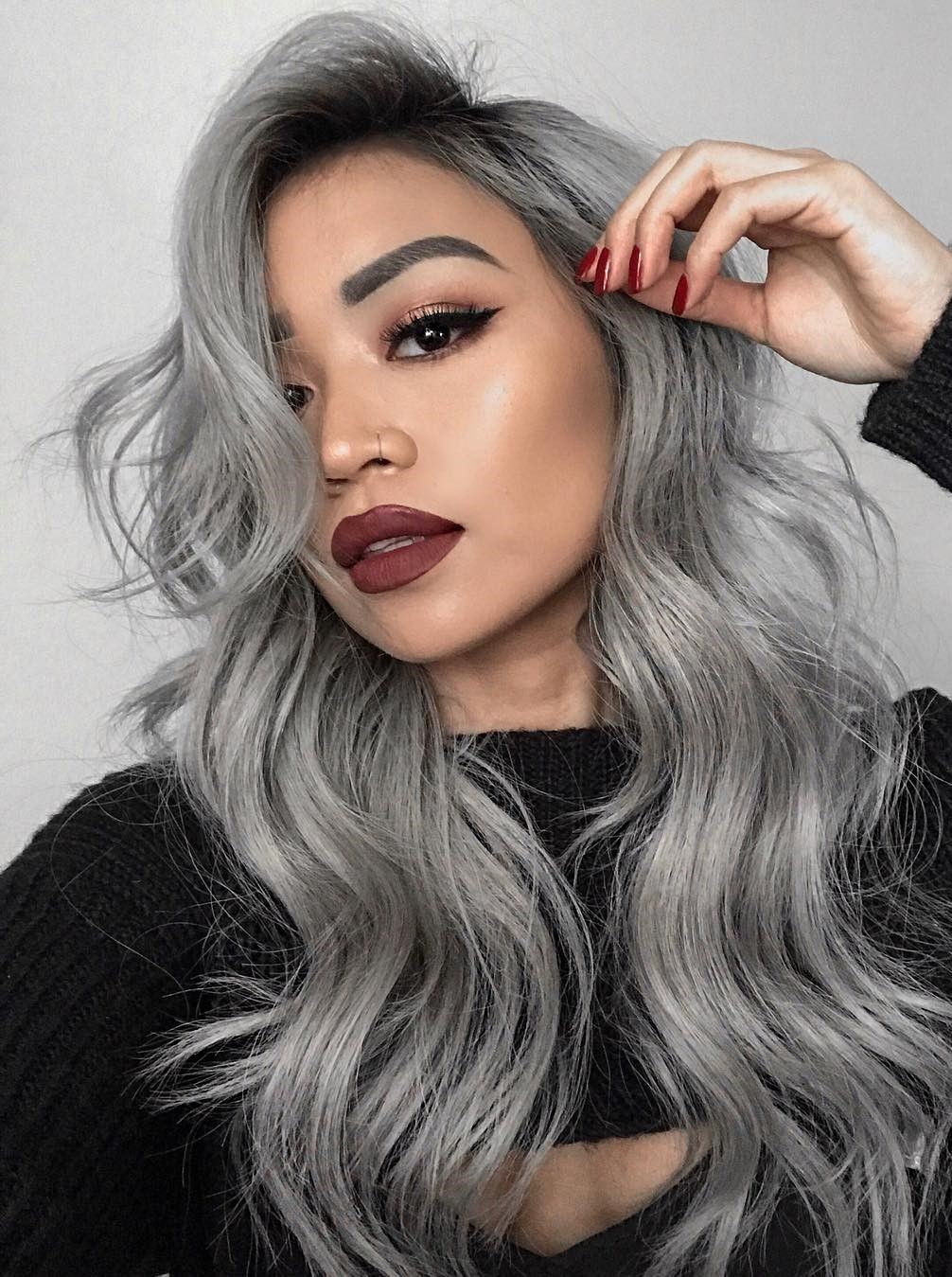 Pin By Mengi Gil On صبغات شعر Hair Styles Grey Hair Color Silver Hair Color