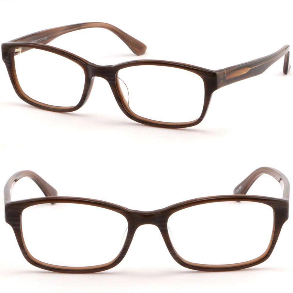 Rectangular Acetate Plastic Men Women Frame Prescription Glasses Lens Dark Brown Ebay Prescription Glasses Glasses Plastic Man