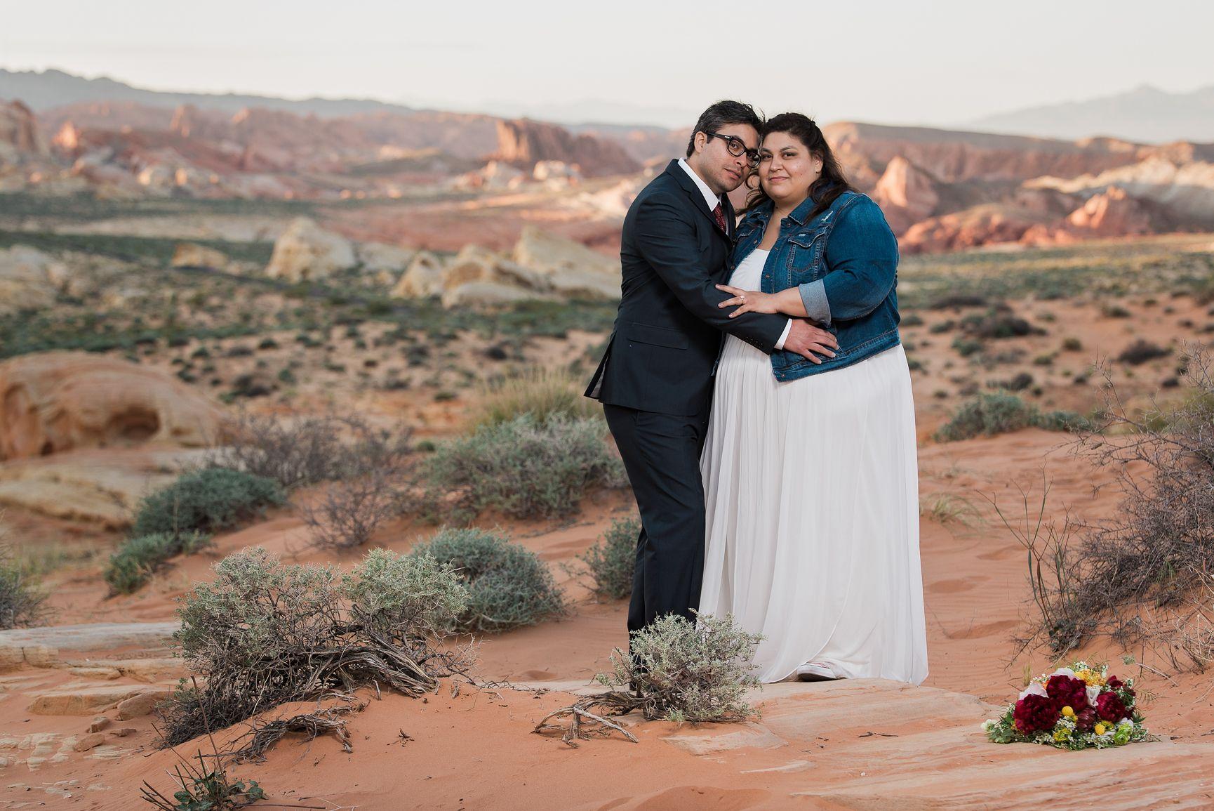 Rainbow Vista is always beautiful for weddings #valleyoffirewedding #lasvegasweddingphotographer #desertwedding
