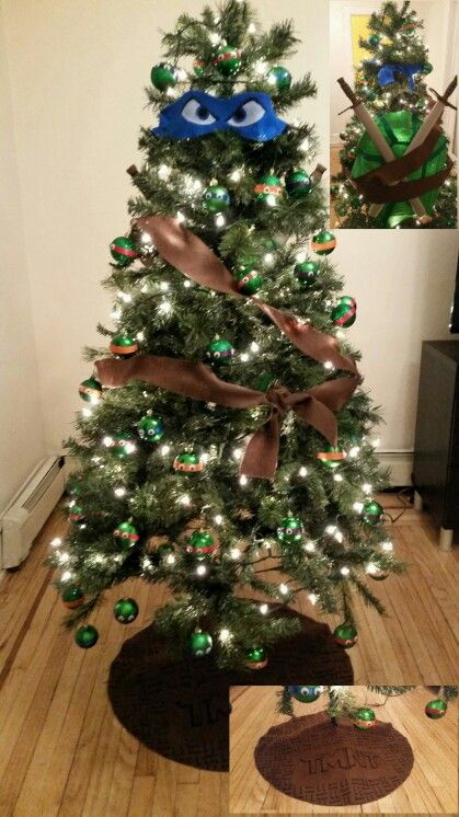 My Teenage Mutant Ninja Turtle Christmas tree. #TMNT #Leonardo ...