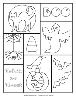 preschool halloween spider coloring pages - photo#23