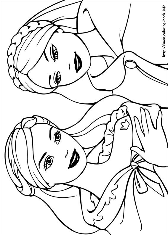 Pin On Blog Coloring Pages Barbie