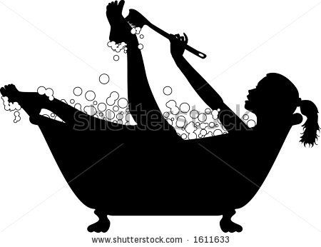 bathtub+clip+art | ... graphic depicting a woman taking a ...