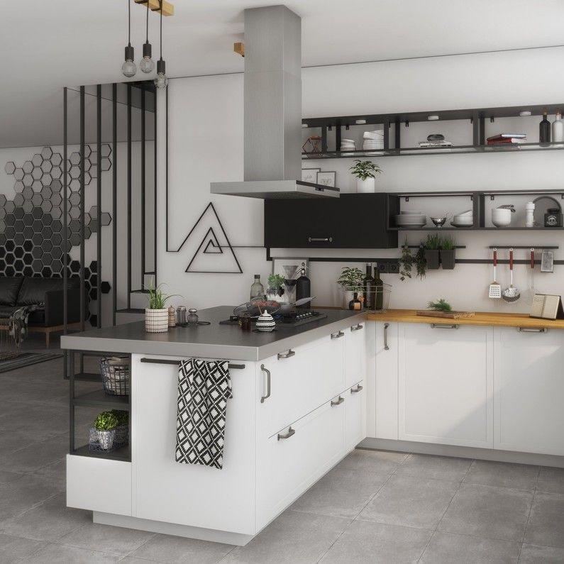 Cuisine Blanc Beige Naturel Delinia Id Cuisine Moderne Blanche Cuisine Moderne Organiser Les Armoires De Cuisine