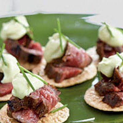 Under 100 Calorie Appetizer: Beef Teriyaki Crisps With Wasabi Mayonnaise U003c  Appetizers Under 100 Calories   Cooking Light Nice Look
