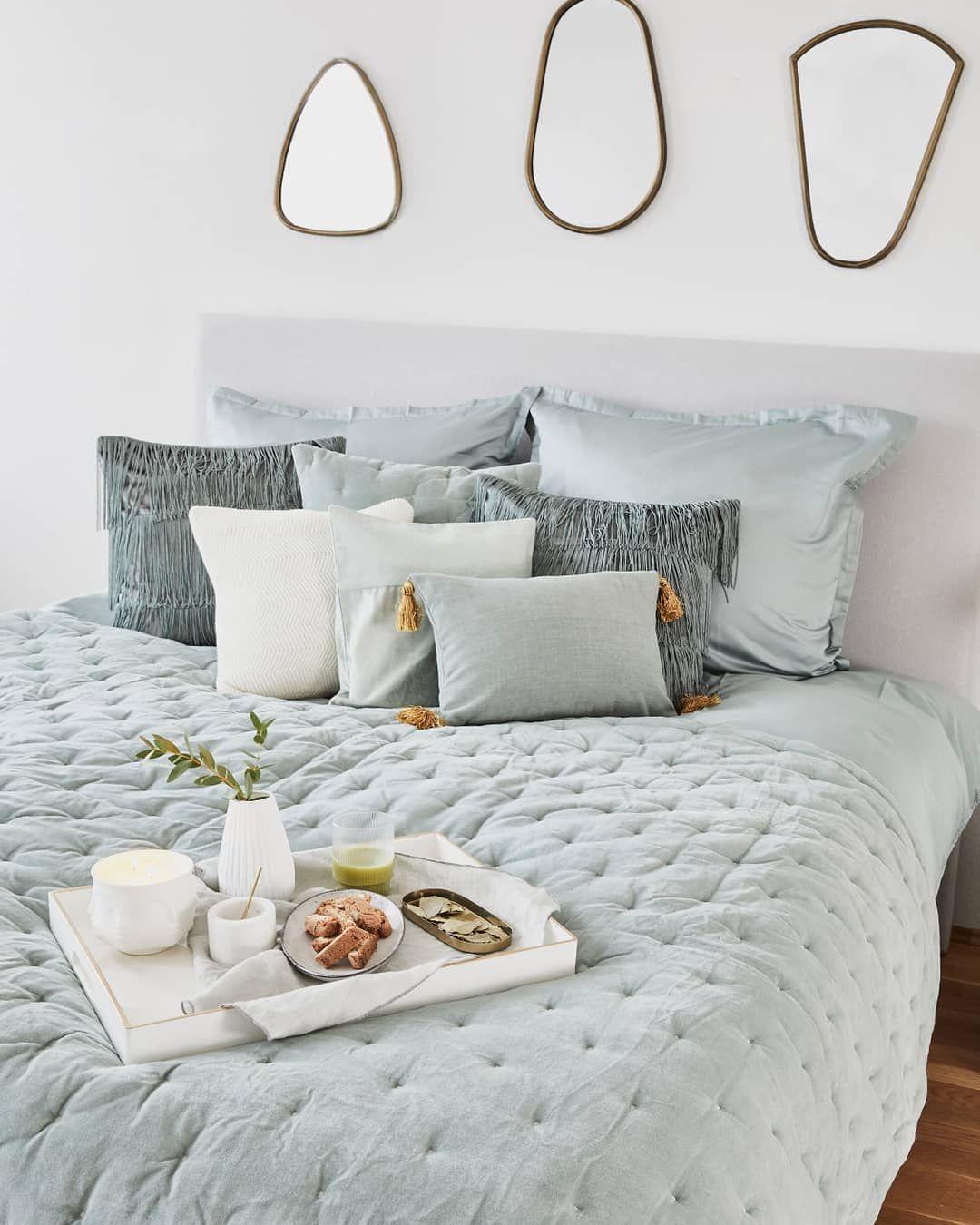 Mint Dreams Im Schlafzimmer Shoppt Die Produkte Tagesdecke