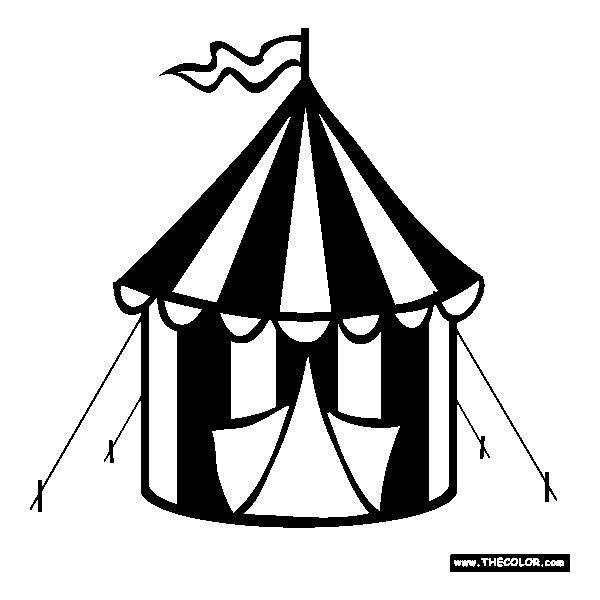 Circus Tent Coloring Page Free Circus Tent Online Coloring Liked On Polyvore Featuring Accessories And Sc Tent Drawing Circus Tent Drawing Outline Drawings