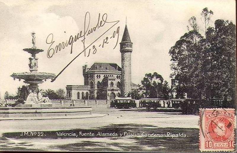 Fuente de la alameda y palacio de ripalda 1909 for Residencia torres de la alameda