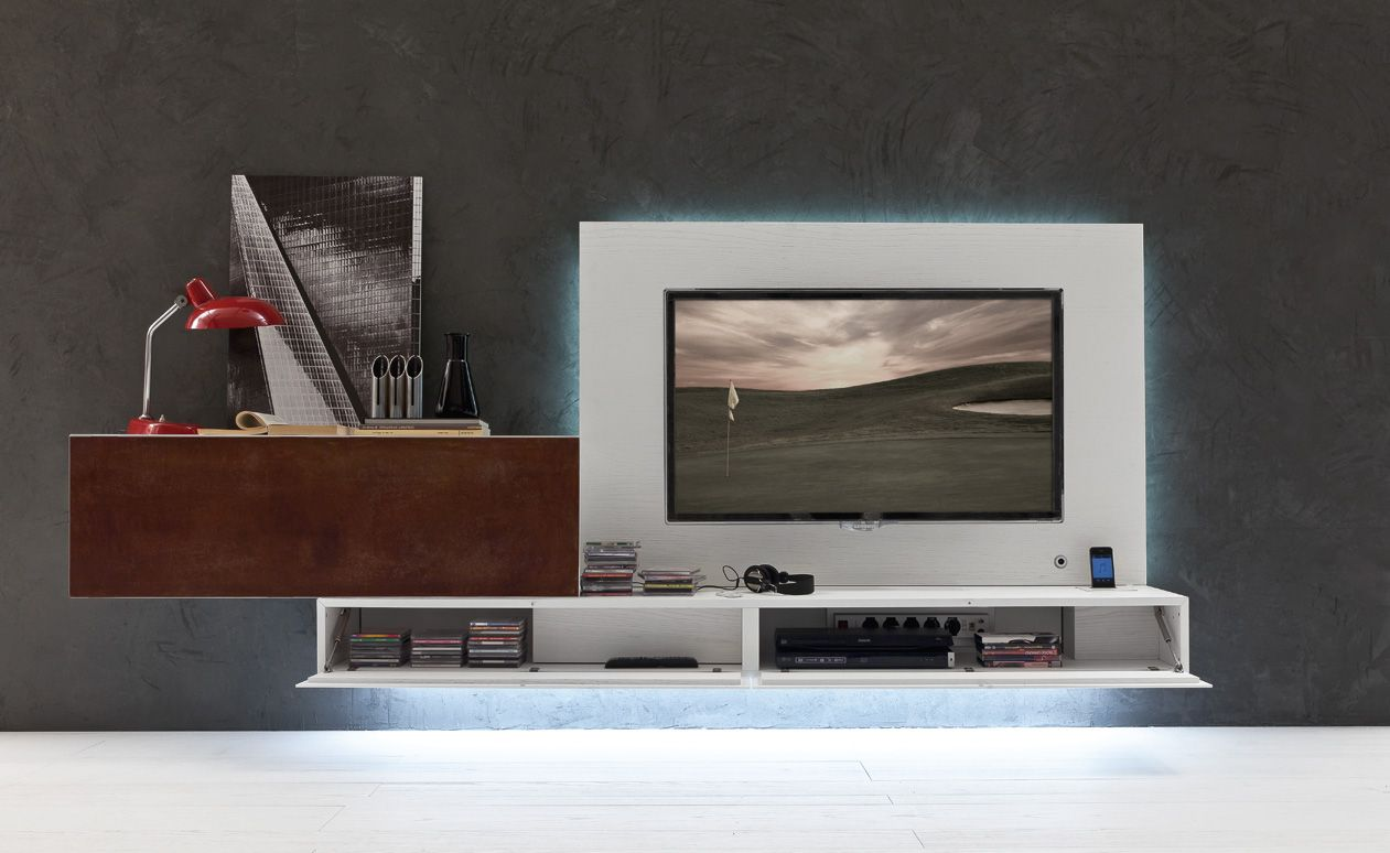 PRESOTTO | I-modulART wall unit. The TV panel is provided with Led ...