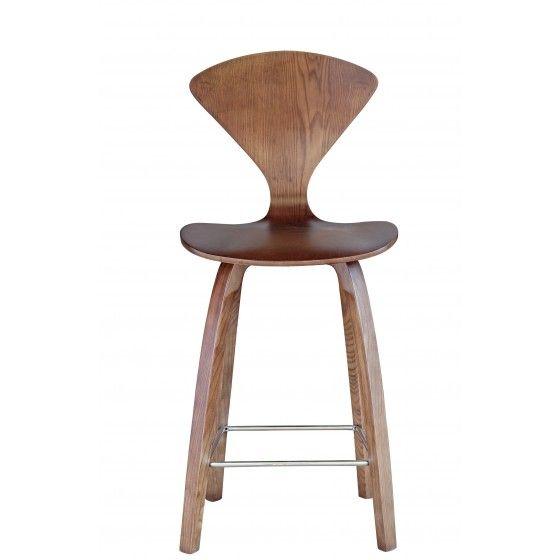 Cool Walnut 25 Wooden Counter Chair Fmi9254 Walnut Fine Mod Inzonedesignstudio Interior Chair Design Inzonedesignstudiocom