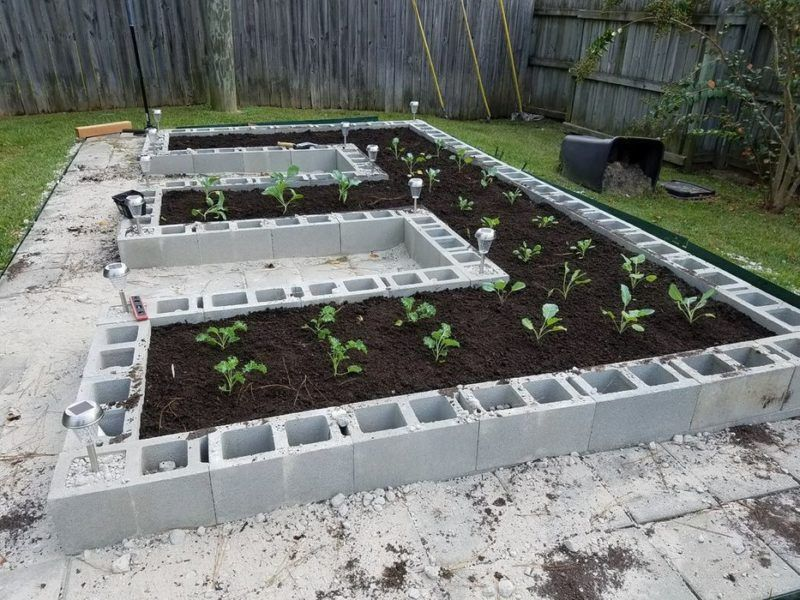 14 Cinderblock Garden Ideas For Your Veggies, Flowers and Succulents -   25 stone garden beds
