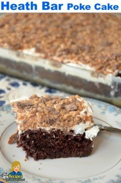 BEST HEATH BAR CAKE USING CHOCOLATE CAKE MIX