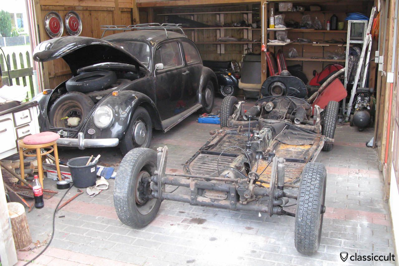 Vw Beetle Body Removed From Chassis Vw Beetle Classic Vw Beetles Beetle