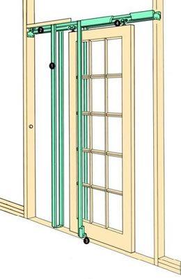 Hideaway Pocket Door Kit Portas De Correr Sala Dicas De Construcao Casa Porta De Correr Embutida