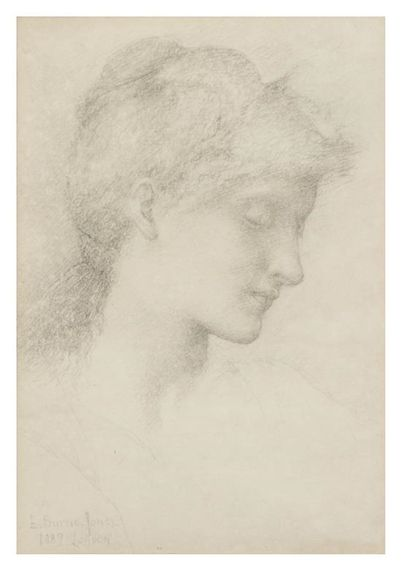Edward Burne-Jones, Head of a Lady