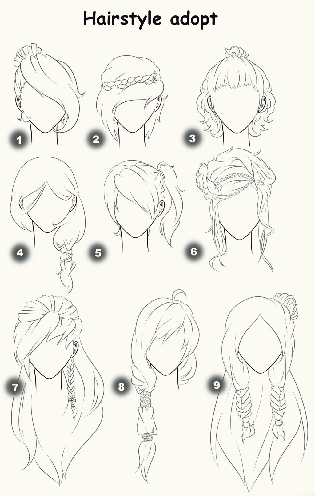 Straight Hair Attractive Hairdos Designed For Straight Hair Such As The 1 2 Up Pony Tails Side Bangs Up Dos And Even Me Sketches Drawings Manga Drawing