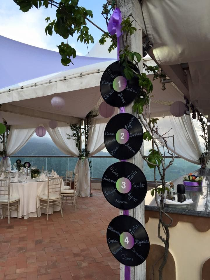 tableau mariage shabby chic Wedding Day wisteria and green colors