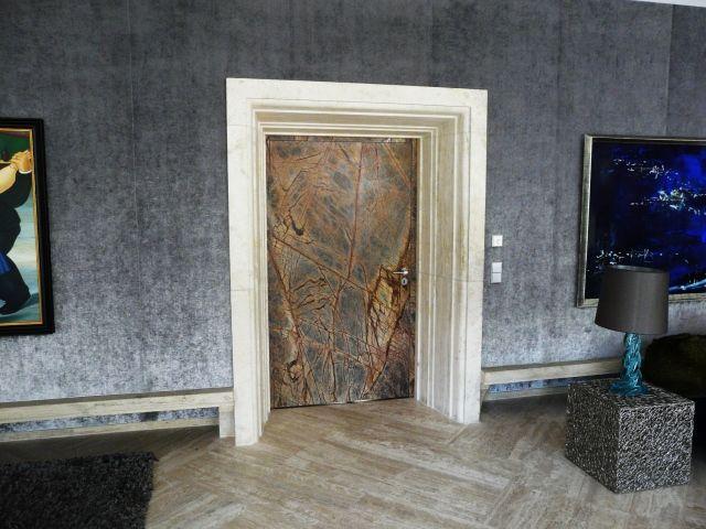 Unique stone doors for special interior design