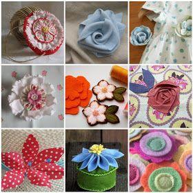 Sweet Tidings: Mosaic Monday: Handmade Flowers