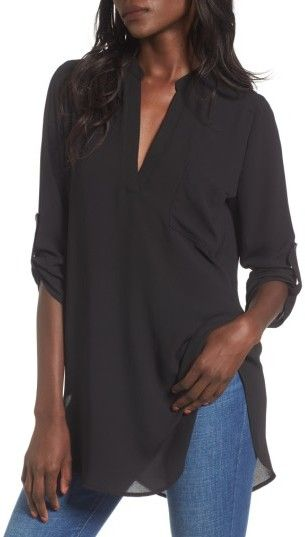 d3ff5fbcee5 Women's Lush Perfect Roll Tab Sleeve Tunic, and it comes in multiple  colors! #afflink