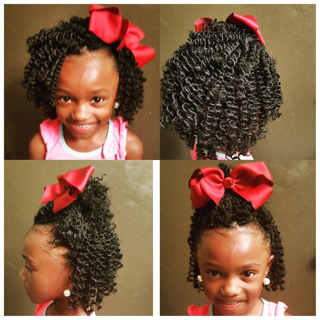 kids crochet install curls #stylist